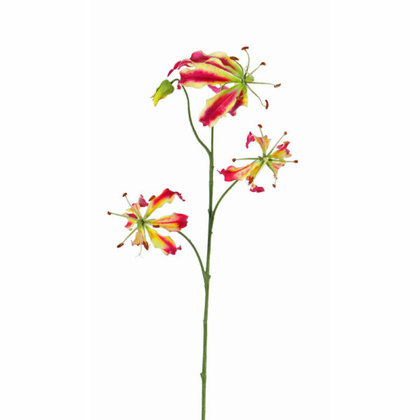 Faux Lily Gloriosa, Red/Green