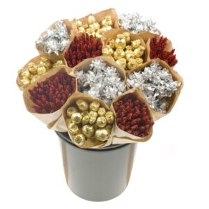 Xmas bucket, natural , gold mix