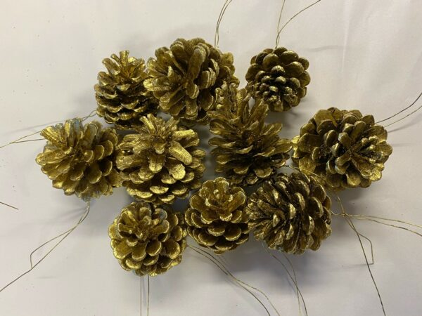 Pine Cone Gold on Wire