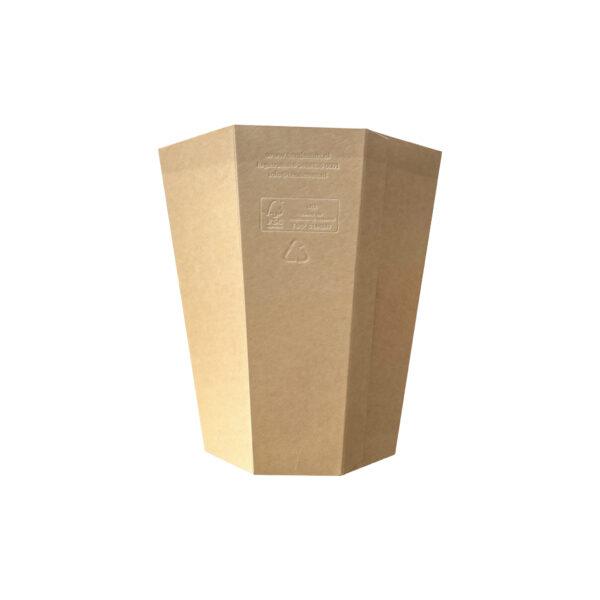 Cardboard Display Bucket 10L natural
