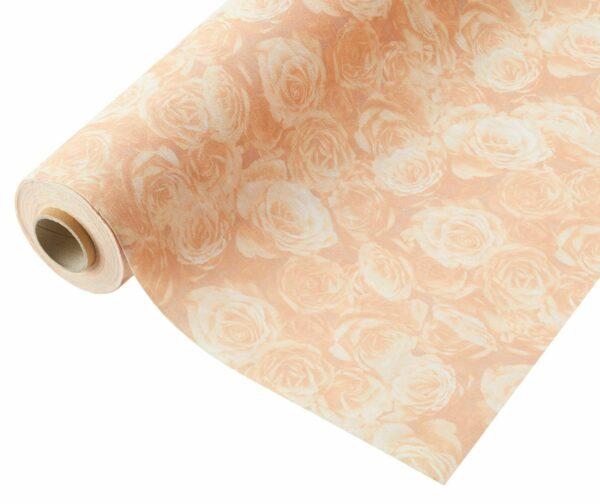 Compostable Wrap Rose Design Peach