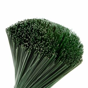 Green Lacquered Stub Wire, 30cm x 0.71mm