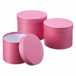 Set of 3 Hat Boxes Strong Pink