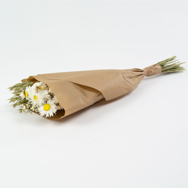 This image shows a bunch of white flowers that include Haver, Acrolinium, and Gypsophila