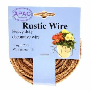 This image shows a reel of rustic natural wire.