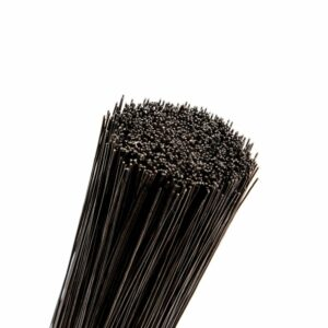 This image shows a portion of a bunch of stub wire in black, against a white background