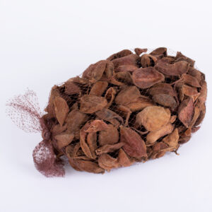 This image shows a bag of Land Lotus Petals, or dried almond shells, against a white background
