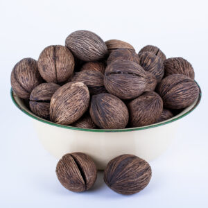 This image shows a bowl full of Mintolla balls set against a white background