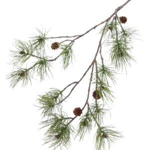 Faux Pine Spray 110cm 4 cones