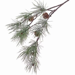 Faux Pine Spray Frosted 4 cones 81cm