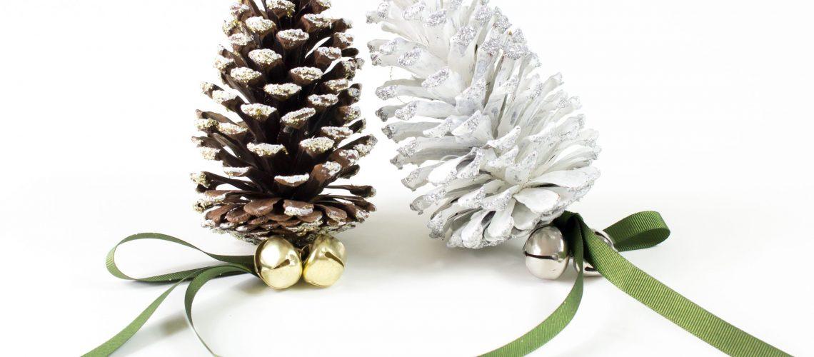 christmas, pinecones, decoration, show,